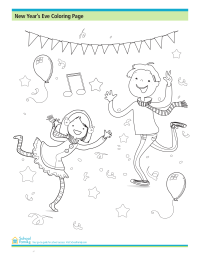 New Year's Eve Coloring Page