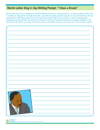 Martin luther king jr day worksheets schoolfamily martin luther king jr day writing prompt i have a dream ibookread PDF