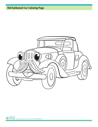 Old-Fashioned Car Coloring Page
