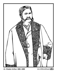 Chester Arthur Coloring Page