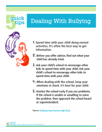 5 Quick Tips: Dealing With Bullying