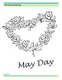 May Day Coloring Page: Garland