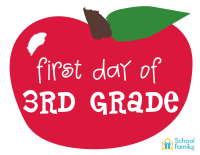First Day of School Mini-Poster: 3rd Grade