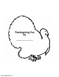 Thanksgiving Shape Book