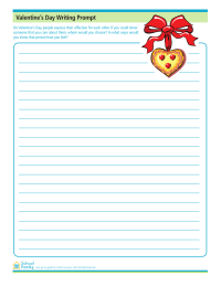 Valentine's Day Writing Prompt Activity