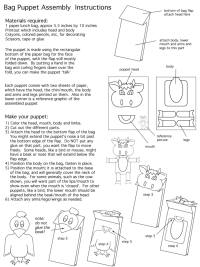Bag Puppet Instructions