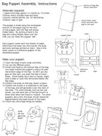 Bag Puppet Instructions
