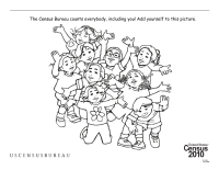 Census Worksheets: Every Kind of Kid Coloring Page