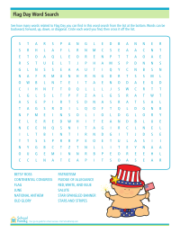 Flag Day Word Search