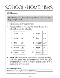 Beginning of Word Sounds
