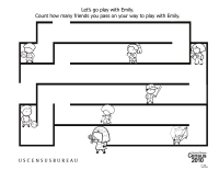 Census Worksheets: Counting Maze