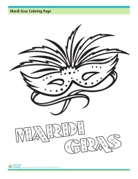 Mardi Gras Coloring Page: Holiday Mask