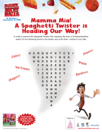 Cloudy With a Chance of Meatballs Word Find