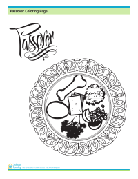 Passover Coloring Page: Seder Plate