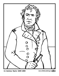Zachary Taylor Coloring Page