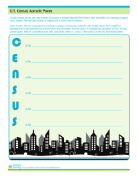 Census Acrostic Poem