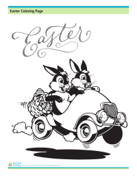 Easter Coloring Page: Bunnies
