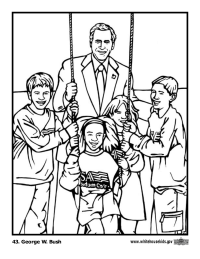 George W. Bush Coloring Page