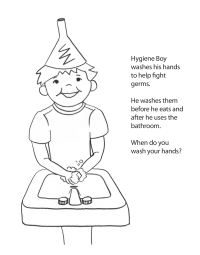 Hygiene Boy Coloring Page