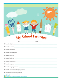 My School Favorites Sheet