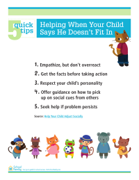 5 Quick Tips: Help Your Child Fit In