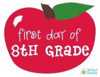 First Day of School Mini-Poster: 8th Grade