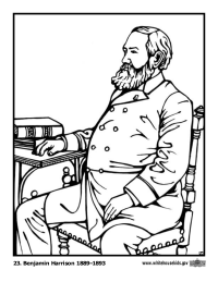 Benjamin Harrison Coloring Page