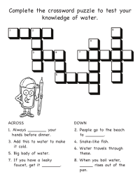 Water Facts Crossword