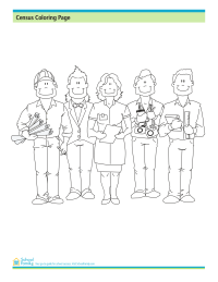 Census Coloring Page: Workers
