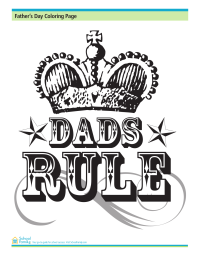 Father's Day Coloring Page: Dads Rule