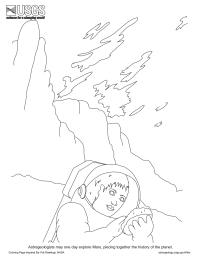 Astrogeologist Coloring Page