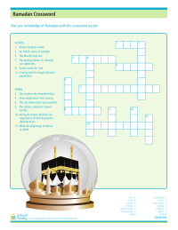 Ramadan Crossword Puzzle