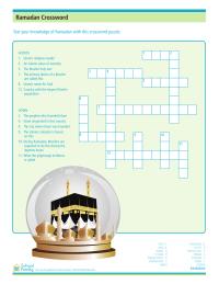 Ramadan Crossword Puzzle