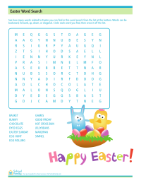 picture regarding Easter Word Search Printable Worksheets named Easter Phrase Appear Worksheet - SchoolFamily