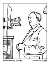 Warren Harding Coloring Page