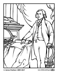 James Madison Coloring Page