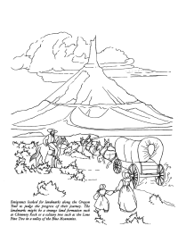 Chimney Rock Coloring Page