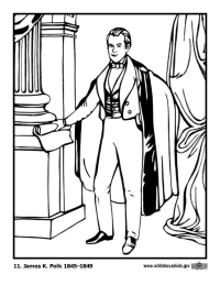 James Polk Coloring Page
