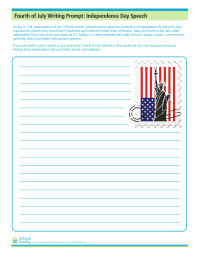 4th of July Writing Prompt: Independence Day Speech