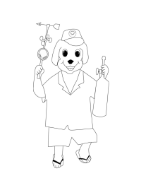 Mauna Loa Observatory's Mascot Coloring Page