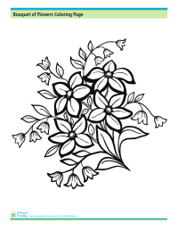Bouquet of Flowers Coloring Page