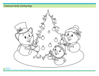 Snowman Coloring Printable