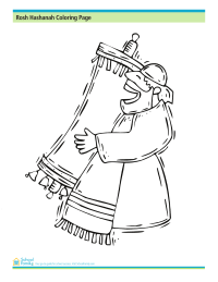 Rosh Hashanah Coloring Page: The Torah