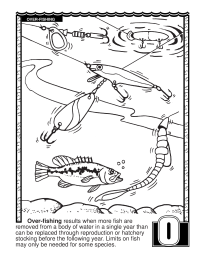 ABCs Coloring Book: O Is for Over-Fishing