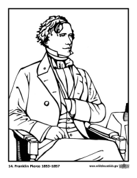 Franklin Pierce Coloring Page