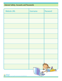 Online Accounts and Passwords Organizer