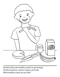 Nutrition Boy Coloring Page