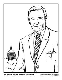 Lyndon Johnson Coloring Page