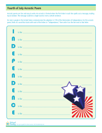 4th of July Acrostic Poem
