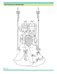 Two Princesses Coloring Pages